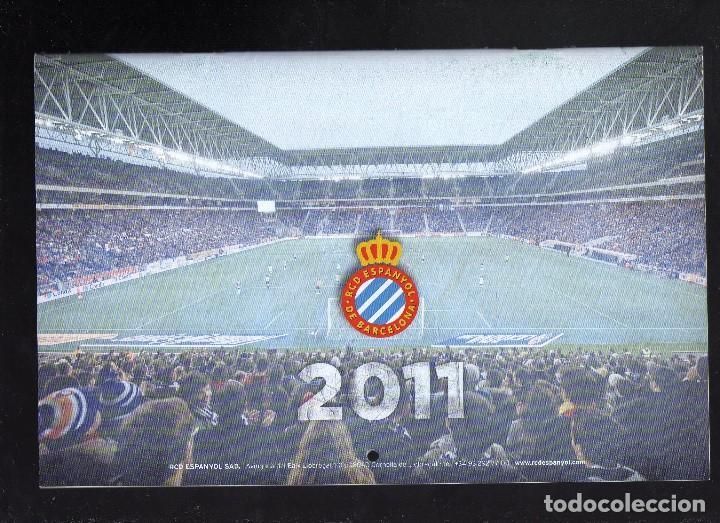 CALENDARIO DE PARED DEL RCD ESPANYOL DE BARCELONA - AÑO 2011 · PESO: 140 GRAMOS - (Coleccionismo Deportivo - Documentos de Deportes - Calendarios)