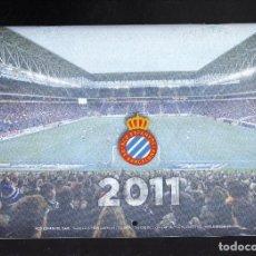 Coleccionismo deportivo: CALENDARIO DE PARED DEL RCD ESPANYOL DE BARCELONA - AÑO 2011 · PESO: 140 GRAMOS -. Lote 194402732