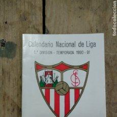 Coleccionismo deportivo: CALENDARIO NACIONAL DE LIGA 1990/91. Lote 194514562
