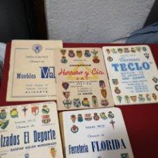Coleccionismo deportivo: ANTIGUO ALICANTE CALENDARIOS DE FUTBOL AÑOS 63-66-71-83-92 DE PROGANDA DE COMERCIOS ALICANTE . Lote 194647856