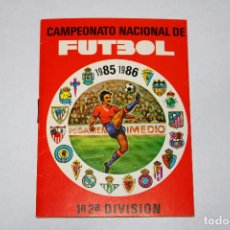 Coleccionismo deportivo: CALENDARIO CAMPEONATO NACIONAL DE FUTBOL - 1985 1986 - 1ª Y 2ª DIVISIÓN. Lote 194708613