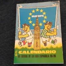 Coleccionismo deportivo: CALENDARIO TRIPTICO LIGA 95 96 REAL BETIS SEVILLA EUROPA. Lote 195058803