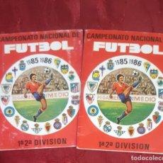 Coleccionismo deportivo: CALENDARIO CAMPEONATO NACIONAL FÚTBOL 1985/86 1 Y 2 DIVISION PUBLICIDAD PEGAMENTO IMEDIO. Lote 195263888