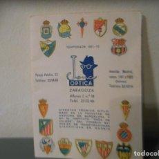 Coleccionismo deportivo: CALENDARIO FUTBOL OPTICA JENA. TEMPORADA 1971-72. Lote 195441830