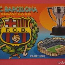 Coleccionismo deportivo: CALENDARIO DE BOLSILLO FUTBOL F.C. BARCELONA AÑO 2001 LOTE 3 MIRAR FOTOS. Lote 195911600