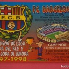 Coleccionismo deportivo: CALENDARIO DE BOLSILLO FUTBOL F.C. BARCELONA AÑO 2000 LOTE 3 MIRAR FOTOS. Lote 195911815