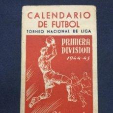 Coleccionismo deportivo: CALENDARIO DE FUTBOL - PRIMERA DIVISION - 1944-45 - OBSEQUIO DE MARTINI & ROSSI - CON LOS RESULTADOS. Lote 196870045