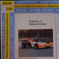 Coleccionismo deportivo: CALENDARIO DE BOLSILLO. FOURNIER. AÑO 1976. B BENDIBÉRICA SELEX ST4 FORMULA 1800 FRENOS DIRECCIONES. Lote 197687930