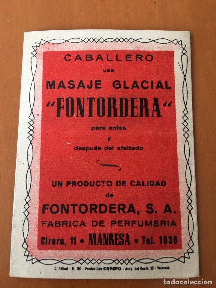 Coleccionismo deportivo: CALENDARIO DESPLEGABLE BOLSILLO FUTBOL 1949-50 (PUBLICIDAD MASAJE GLACIAL FONTORDERA MANRESA) - Foto 4 - 198207423