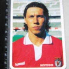 Coleccionismo deportivo: MOSTOVOI PORTUGAL LISBOA CALENDARIO BOLSILLO 1994 ED. LOJA DO BENFICA CROMO POSTAL STICKER. Lote 198309135