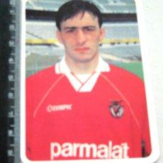 Coleccionismo deportivo: PAULO BENTO PORTUGAL LISBOA CALENDARIO BOLSILLO 1993 ED. LOJA DO BENFICA CROMO POSTAL STICKER. Lote 198309227