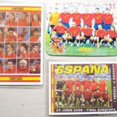 Coleccionismo deportivo: LOTE 3 CALENDARIO BOLSILLO ESPAÑA FUTBOL 2 CAMPEONES EUROCOPA 2008 Y AÑO 2005 ED. RUSSIA. Lote 198309803