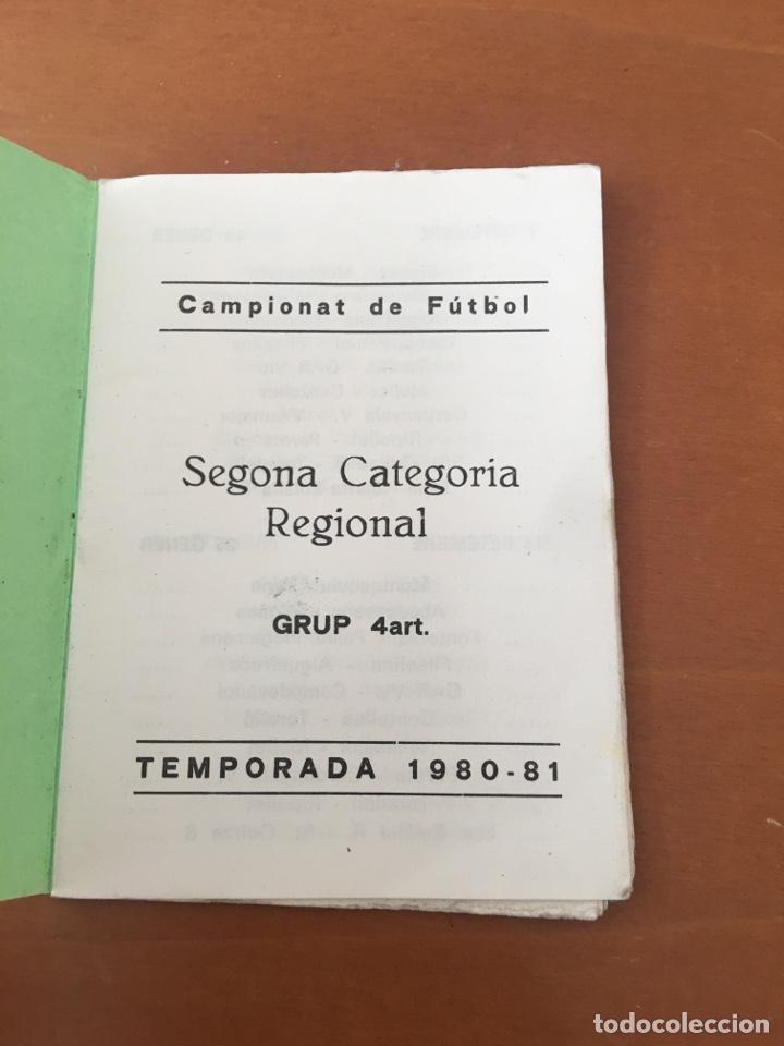 Coleccionismo deportivo: PROGRAMA FUTBOL CAMPEONATO TEMPORADA 1980-81 SEGONA CAT. REGIONAL (TONA, CENTELLES,TARADELL .. OSONA - Foto 3 - 199034968