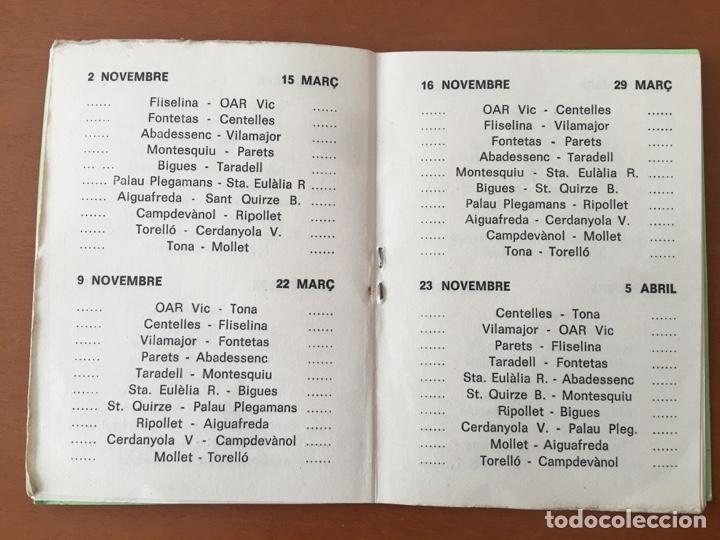 Coleccionismo deportivo: PROGRAMA FUTBOL CAMPEONATO TEMPORADA 1980-81 SEGONA CAT. REGIONAL (TONA, CENTELLES,TARADELL .. OSONA - Foto 4 - 199034968