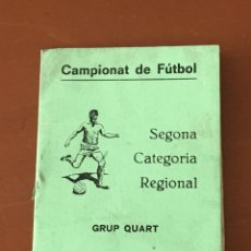 Coleccionismo deportivo: PROGRAMA FUTBOL CAMPEONATO TEMPORADA 1980-81 SEGONA CAT. REGIONAL (TONA, CENTELLES,TARADELL .. OSONA. Lote 199034968