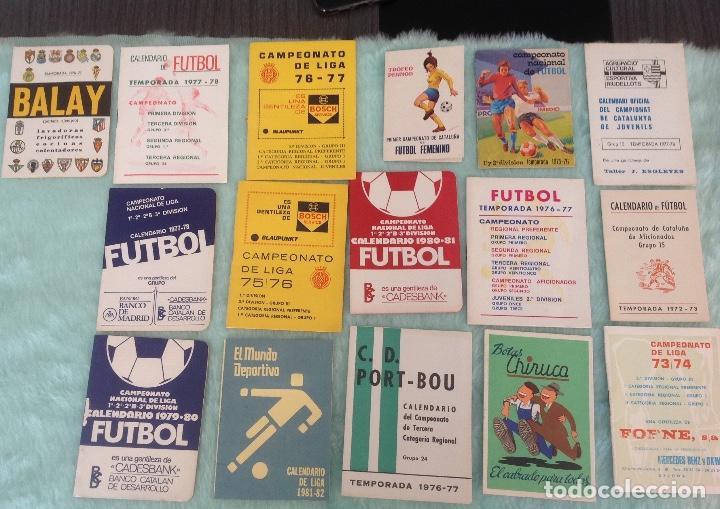 LOTE DE 16 CALENDARIOS DE FUTBOL, TEMPORADAS 70-80 (Coleccionismo Deportivo - Documentos de Deportes - Calendarios)