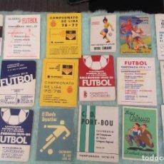 Coleccionismo deportivo: LOTE DE 16 CALENDARIOS DE FUTBOL, TEMPORADAS 70-80. Lote 199838846