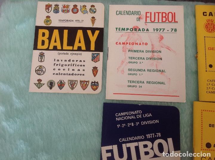 Coleccionismo deportivo: LOTE DE 16 CALENDARIOS DE FUTBOL, TEMPORADAS 70-80 - Foto 2 - 199838846
