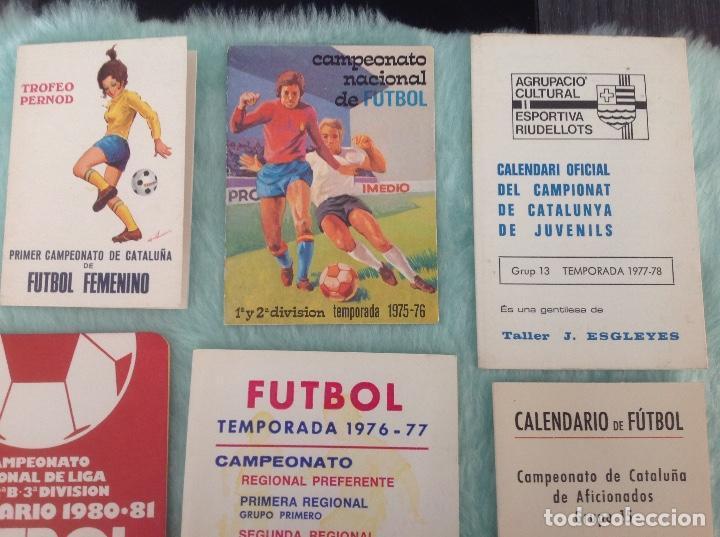 Coleccionismo deportivo: LOTE DE 16 CALENDARIOS DE FUTBOL, TEMPORADAS 70-80 - Foto 3 - 199838846