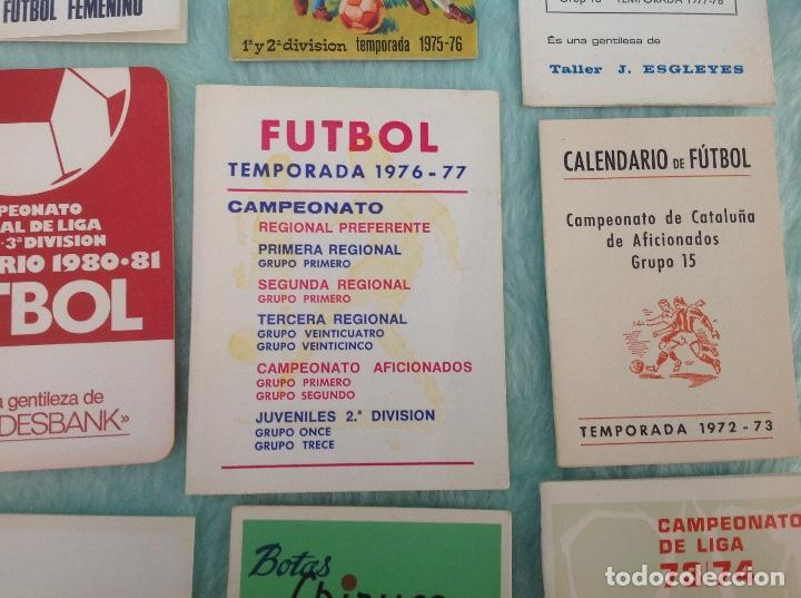 Coleccionismo deportivo: LOTE DE 16 CALENDARIOS DE FUTBOL, TEMPORADAS 70-80 - Foto 4 - 199838846