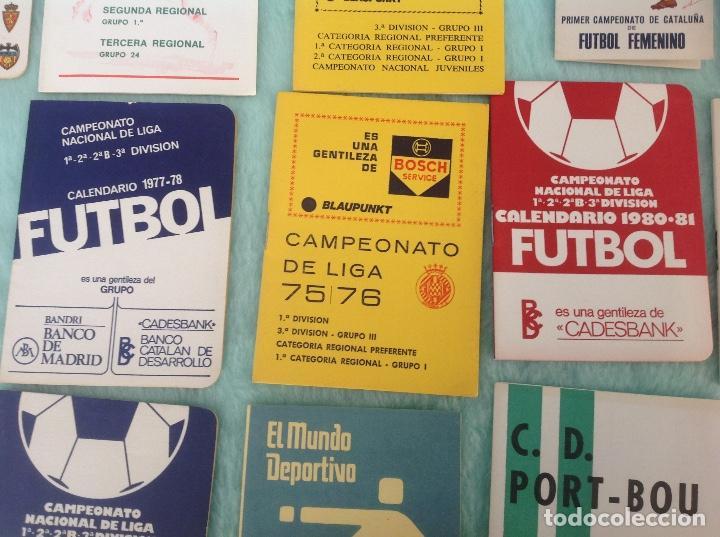 Coleccionismo deportivo: LOTE DE 16 CALENDARIOS DE FUTBOL, TEMPORADAS 70-80 - Foto 5 - 199838846