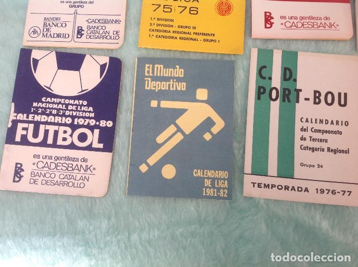 Coleccionismo deportivo: LOTE DE 16 CALENDARIOS DE FUTBOL, TEMPORADAS 70-80 - Foto 6 - 199838846