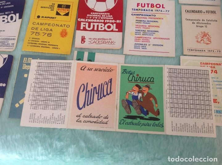 Coleccionismo deportivo: LOTE DE 16 CALENDARIOS DE FUTBOL, TEMPORADAS 70-80 - Foto 8 - 199838846