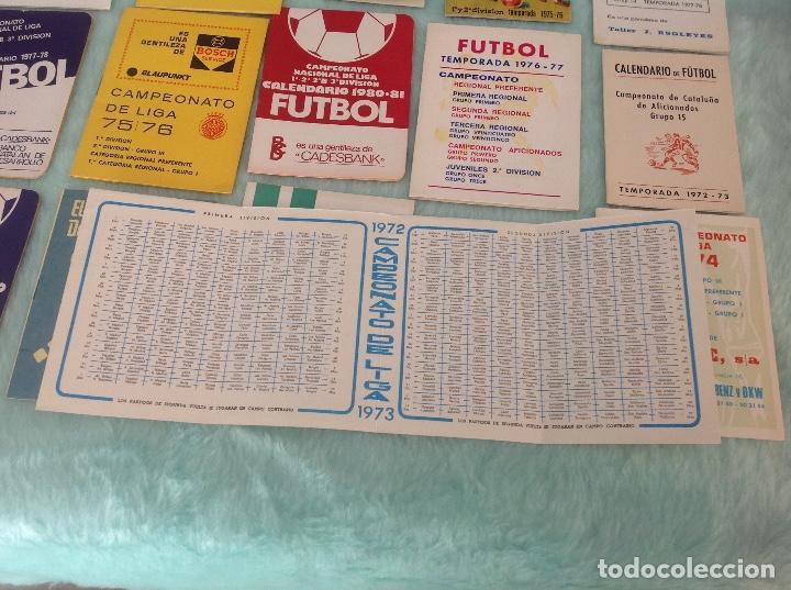 Coleccionismo deportivo: LOTE DE 16 CALENDARIOS DE FUTBOL, TEMPORADAS 70-80 - Foto 9 - 199838846