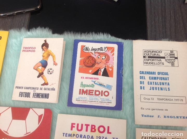 Coleccionismo deportivo: LOTE DE 16 CALENDARIOS DE FUTBOL, TEMPORADAS 70-80 - Foto 10 - 199838846