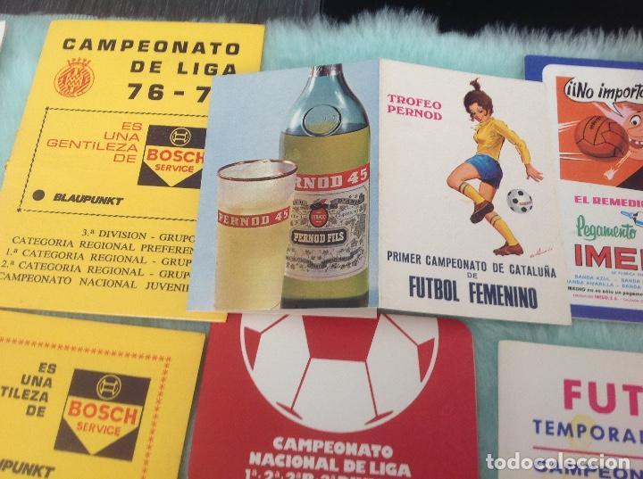 Coleccionismo deportivo: LOTE DE 16 CALENDARIOS DE FUTBOL, TEMPORADAS 70-80 - Foto 11 - 199838846