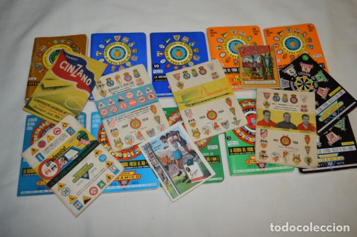 Coleccionismo deportivo: Lote antiguo CALENDARIOS FÚTBOL - Dinámico y otras marcas - desde años 40 a 80 ¡Mira fotos/detalles! - Foto 2 - 200294245