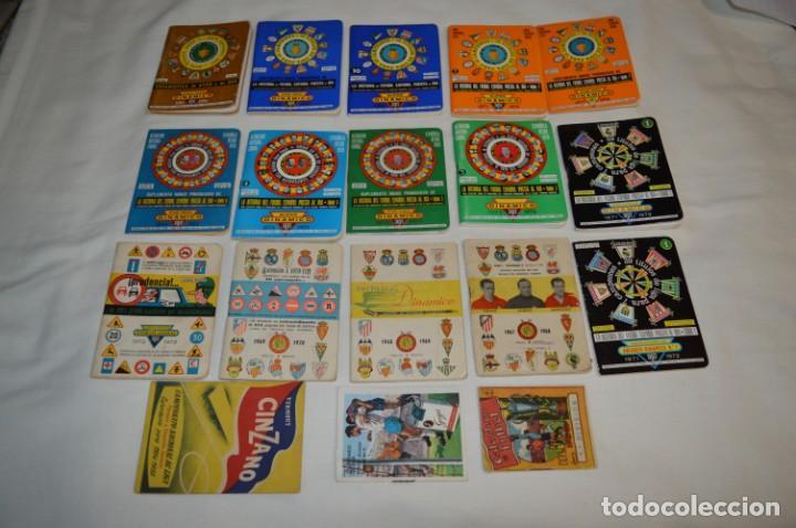 Coleccionismo deportivo: Lote antiguo CALENDARIOS FÚTBOL - Dinámico y otras marcas - desde años 40 a 80 ¡Mira fotos/detalles! - Foto 3 - 200294245