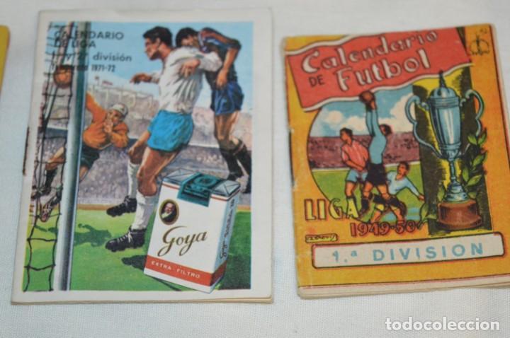 Coleccionismo deportivo: Lote antiguo CALENDARIOS FÚTBOL - Dinámico y otras marcas - desde años 40 a 80 ¡Mira fotos/detalles! - Foto 14 - 200294245
