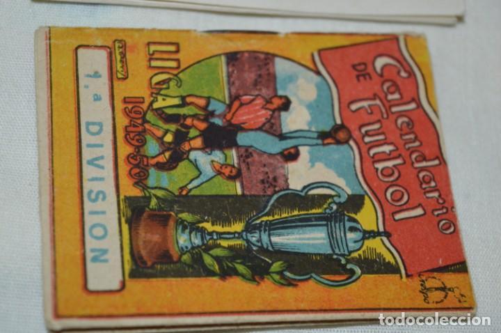 Coleccionismo deportivo: Lote antiguo CALENDARIOS FÚTBOL - Dinámico y otras marcas - desde años 40 a 80 ¡Mira fotos/detalles! - Foto 16 - 200294245