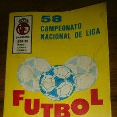 Coleccionismo deportivo: AGENDA ESTADISTICA FUTBOL 1988/89, 58 CAMPEONATO NACIONAL DE LIGA. Lote 201142255