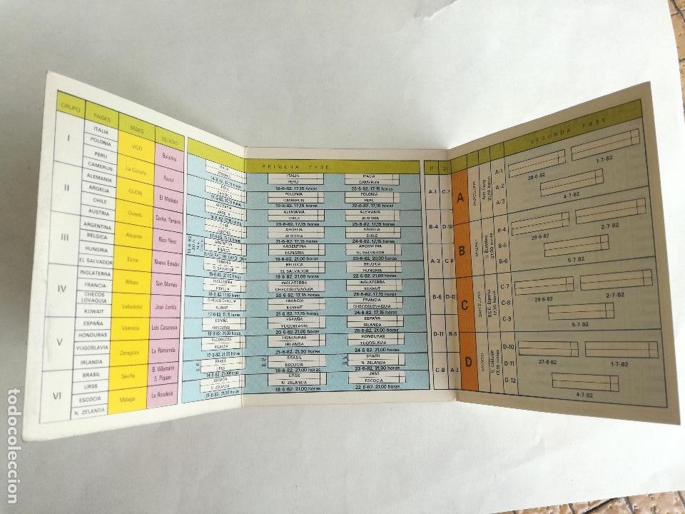 Coleccionismo deportivo: CATALUNYA CALENDARIO Y HORARIOS T.V. DEL MUNDIAL ESPAÑA 82 -CON PUBLICIDAD CENTRO DE LIMPIEZA BARUT - Foto 4 - 202342276