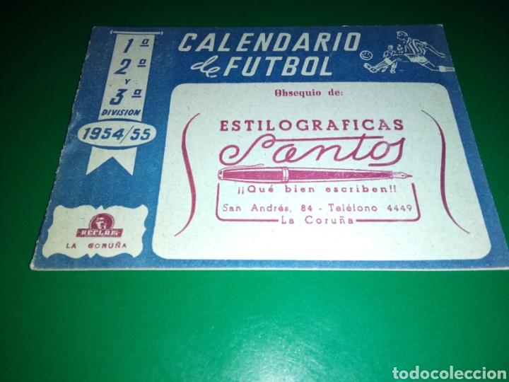 ANTO CALENDARIO LIGA ESPAÑOLA FÚTBOL. PRIMERA, SEGUNDA Y TERCERA. ESTILOGRÁFICAS SANTOS. LA CORUÑA (Coleccionismo Deportivo - Documentos de Deportes - Calendarios)