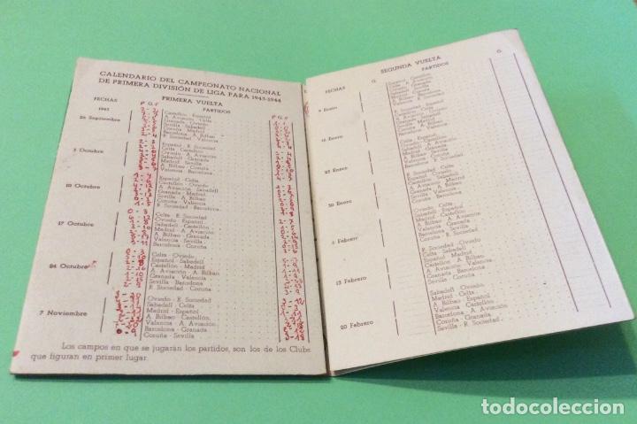 Coleccionismo deportivo: Calendario estadístico del campeonato nacional de 1ª división de Liga 1943-44 - Ceregumil - Foto 2 - 204240988