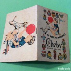Coleccionismo deportivo: CALENDARIO DE LIGA -TEMPORADA1954-55 CHEIW GOMA DE MASCAR HINCHABLE. Lote 204245242