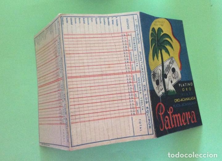 CAMPEONATO 1ª DIVISIÓN 1944-45 LA PALMERA (Coleccionismo Deportivo - Documentos de Deportes - Calendarios)