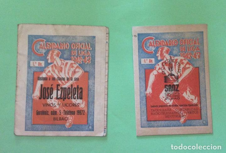 CALENDARIOS OFICIAL DE LA LIGA 1942- 43 -JOSÉ EZPELETA - SANZ (Coleccionismo Deportivo - Documentos de Deportes - Calendarios)