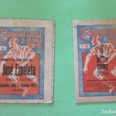 Coleccionismo deportivo: CALENDARIOS OFICIAL DE LA LIGA 1942- 43 -JOSÉ EZPELETA - SANZ. Lote 205106418