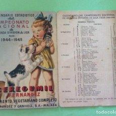 Coleccionismo deportivo: CALENDARIO ESTADÍSTICO DEL CAMPEONATO NACIONAL 2ª DIVISIÓN 1944 -45. Lote 205107352