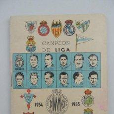 Coleccionismo deportivo: LIBRILLO CALENDARIO DE FUTBOL DINAMICO TEMPORADA-1954-1955. Lote 205162391