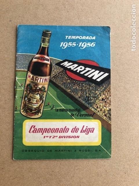 CAMPEONATO DE LIGA 1ª Y 2ª DIVISION TEMPORADA 1955 1956 55 56 MARTINI Y ROSSI C2 (Coleccionismo Deportivo - Documentos de Deportes - Calendarios)