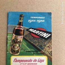 Coleccionismo deportivo: CAMPEONATO DE LIGA 1ª Y 2ª DIVISION TEMPORADA 1955 1956 55 56 MARTINI Y ROSSI C2. Lote 205372215