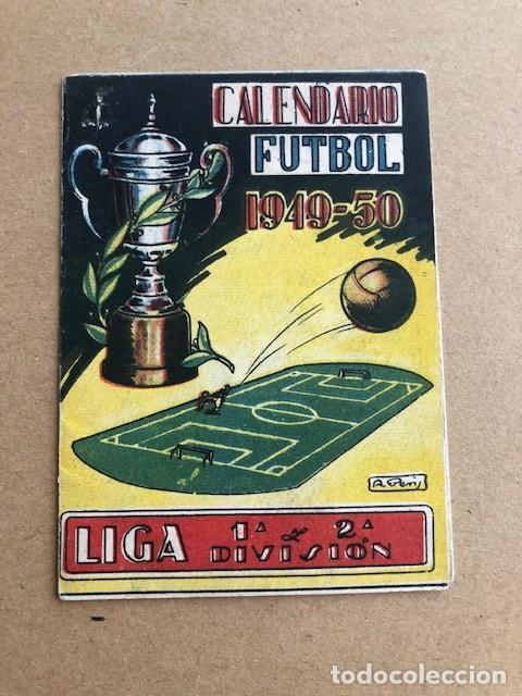 CALENDARIO DE FUTBOL 1949 1950 49 50 LIGA 1ª Y 2ª DIVISION CRESPO C2 (Coleccionismo Deportivo - Documentos de Deportes - Calendarios)