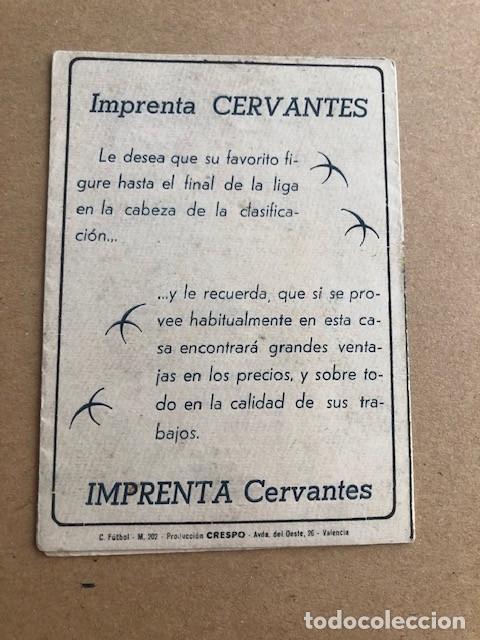 Coleccionismo deportivo: CALENDARIO DE FUTBOL 1949 1950 49 50 LIGA 1ª Y 2ª DIVISION CRESPO C2 - Foto 2 - 205372755