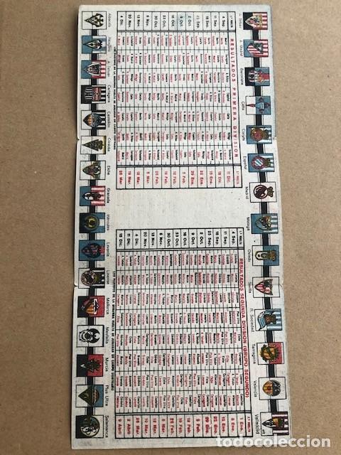 Coleccionismo deportivo: CALENDARIO DE FUTBOL 1949 1950 49 50 LIGA 1ª Y 2ª DIVISION CRESPO C2 - Foto 3 - 205372755