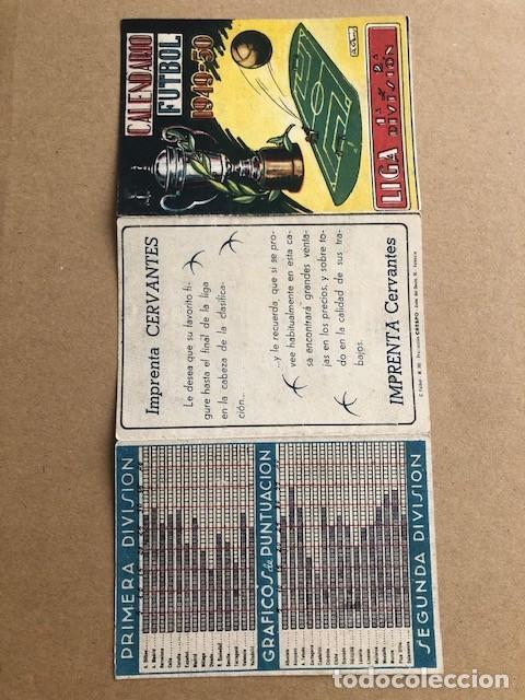 Coleccionismo deportivo: CALENDARIO DE FUTBOL 1949 1950 49 50 LIGA 1ª Y 2ª DIVISION CRESPO C2 - Foto 4 - 205372755